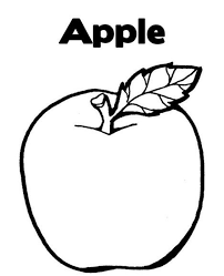 free apple fruit coloring pages fruits coloring pages of