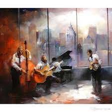 2017 wall art music paintings willem haenraets jazz musicroom view