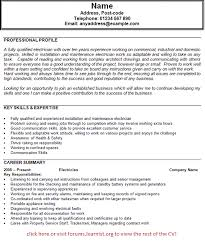 Electrician Resume Example Electrician Resume Best Template Collection