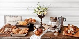 breakfast table setting buffet decorating ideas