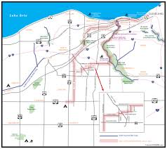 Ohio Erie Canal Map by Bicycle Route With Map For Riding West From Cleveland Into Lorain