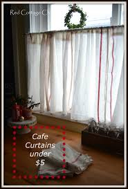 Red Curtains Ikea Ikea Dishtowel Hack Red Cottage Chronicles