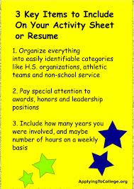 Resume Activities Section Resume Resume Activities