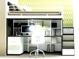Bunk Bed With A Desk Amazing Loft Beds Minimalist Loft Bed For Teenagers Room