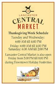thanksgiving week hours central market