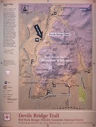 jeep trail sign devils bridge trail hiking sedona az