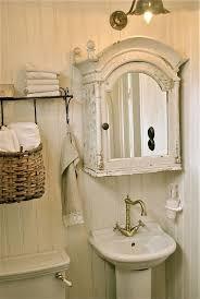 shabby chic small bathroom ideas vintage white cottage bathroom cute tiny pedestal sink pretty