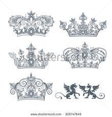 crown vegetative ornament on white stock vector 328747649