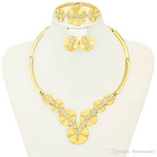 gold jewelry sets for weddings 2017 2016 dubai new fashion 18k gold plated gold necklace set