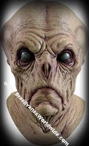 Realistic Halloween Costumes Deluxe Alien Probe Creature Mask Halloween Costume Mascara