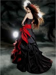 gothic black and blue wedding dresses naf dresses