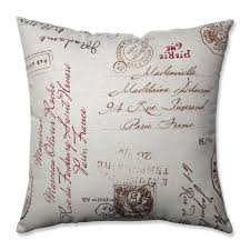 Square Sofa Pillows by Pillow Perfect Linen Red French Postale 18 Inch Square Throw