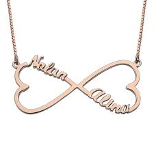 infinity necklace with name personalized heart infinity name necklace gold color heart