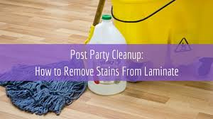 how to remove stains from laminate