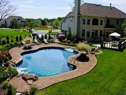 backyard pool landscaping pool town nj inground swimming pools with pool landscaping www