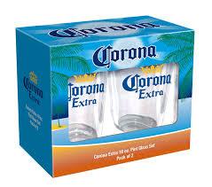 Corona Patio Umbrella by Corona Extra Beer Pint Glass 16 Oz Pack Of 2 Walmart Com
