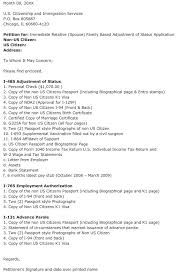 good adjustment of status cover letter 36 for your simple cover