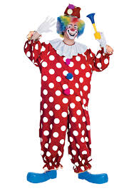 Ladies Clown Halloween Costumes Dotted Clown Costume Funny Clown Costumes