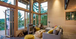 livingroom johnston orcas island cabin by johnston architects