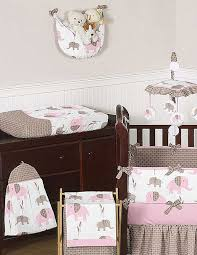 Elephant Crib Bedding Sets Elephant Pink Taupe Crib Bedding Set By Sweet Jojo Designs 9