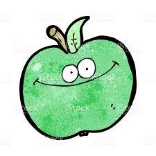 funny cartoon apple stock vector art 179024084 istock