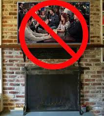 television over fireplace don t mount a tv above a fireplace cnet