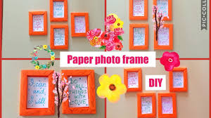 how to make home decor crafts how to make paper frame photo frame diy wall decoration