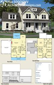 plan 500010vv country farmhouse with bonus over garage