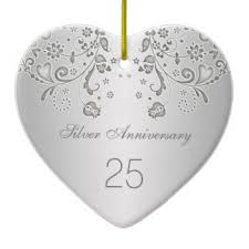 25th anniversary ornaments keepsake ornaments zazzle