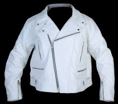 motorbike coats arrow white leather motorcycle jacket mens
