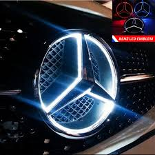 logo mercedes benz 3d buy led emblem logo grid led badge front light for mercedes benz a
