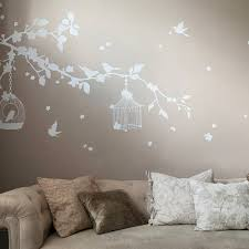 wall decals removable stickers art bird cage wall stickers