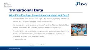 what is light duty work 10 tips for reducing wokers compensation costs
