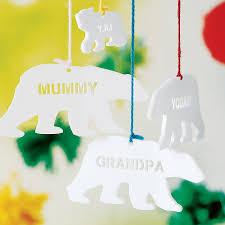 personalised polar bear christmas decoration by sophia victoria