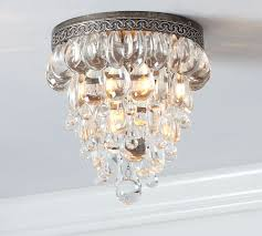 Crystal Ceiling Mount Light Fixture by Clarissa Crystal Drop Flushmount Pottery Barn