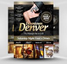 downtown denver free flyer template psd photoshop flyer poster