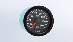 vision black 150 psi mechanical air pressure gauge 12v air