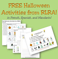 free halloween activities in french spanish and mandarin i real