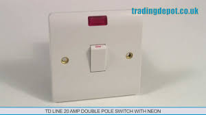 trading depot td line 20 amp double pole switch with neon part no