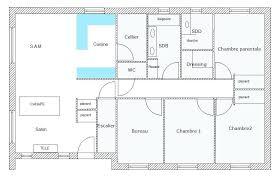 plan villa plain pied 4 chambres plan maison plain pied 4 chambres garage sous sol
