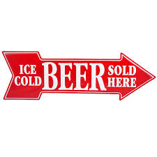cool ice cold beer sold here arrow metal sign adds unique decor to cool ice cold beer sold here arrow metal sign adds unique decor to your home or