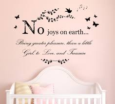 lovely quote wall decals for baby nursery full size baby nursery beautiful black vinyl removable joys earth bring greater