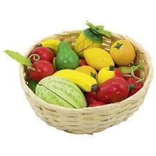 fruit in a basket goki fruit in a basket babame ethical wooden toys