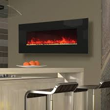 Wall Mounted Electric Fireplace Wall Mount Electric Fireplaces With Glass Face 50