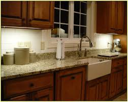 Decoration Art Granite Countertops With Glass Tile Backsplash - Tile backsplashes with granite countertops