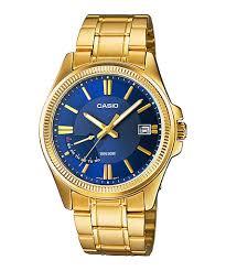 Jam Tangan Casio Gold jual jam tangan pria warna biru gold casio standard mtp e115gb 2av