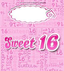 sweet 16 free printable candy bar wrapper 16th birthday