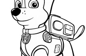 paw patrol coloring pages chase colorings
