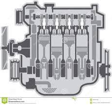 4 cylinder engine 4 cylinder engine vector stock vector image 49276752
