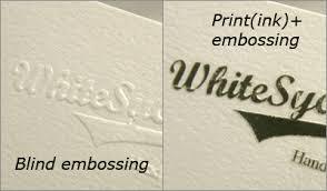 Premium Business Cards Embossed Morningprint Business Cards Press Embossing Blind Embossing